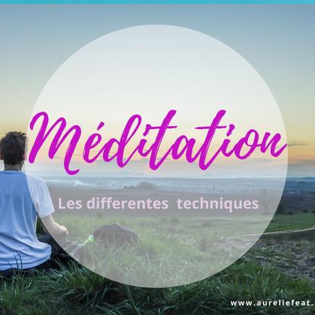 Les différentes techniques de méditations