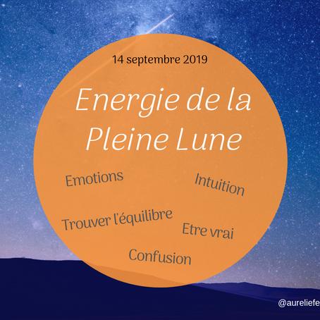 Energies de la Pleine lune - Sept 2019
