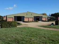 Light airy modern barn