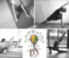 Men and Women Practicing Pilates and Yoga, Narantuda logo