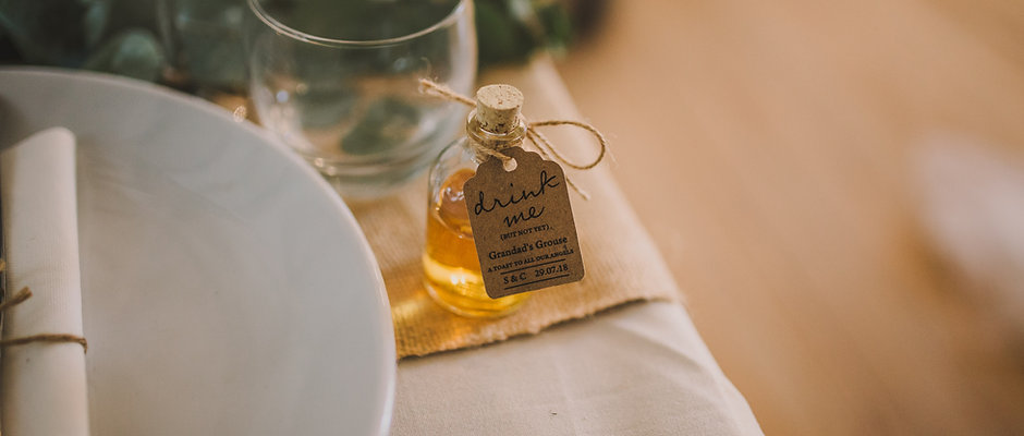Personalised Demijohn Favour Set: Printed Labels