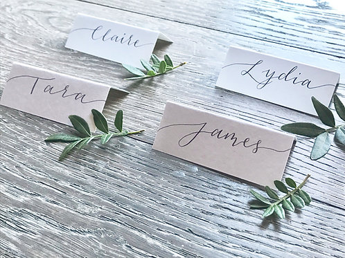Hand Drawn Calligraphy Services for Place Cards