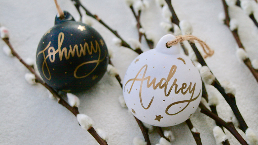 Calligraphy Name Baubles