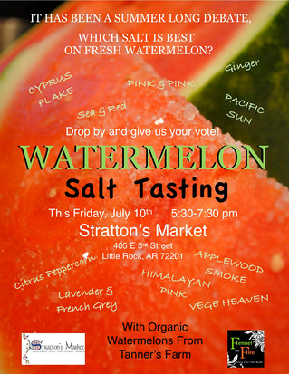 Watermelon Salt Tasting