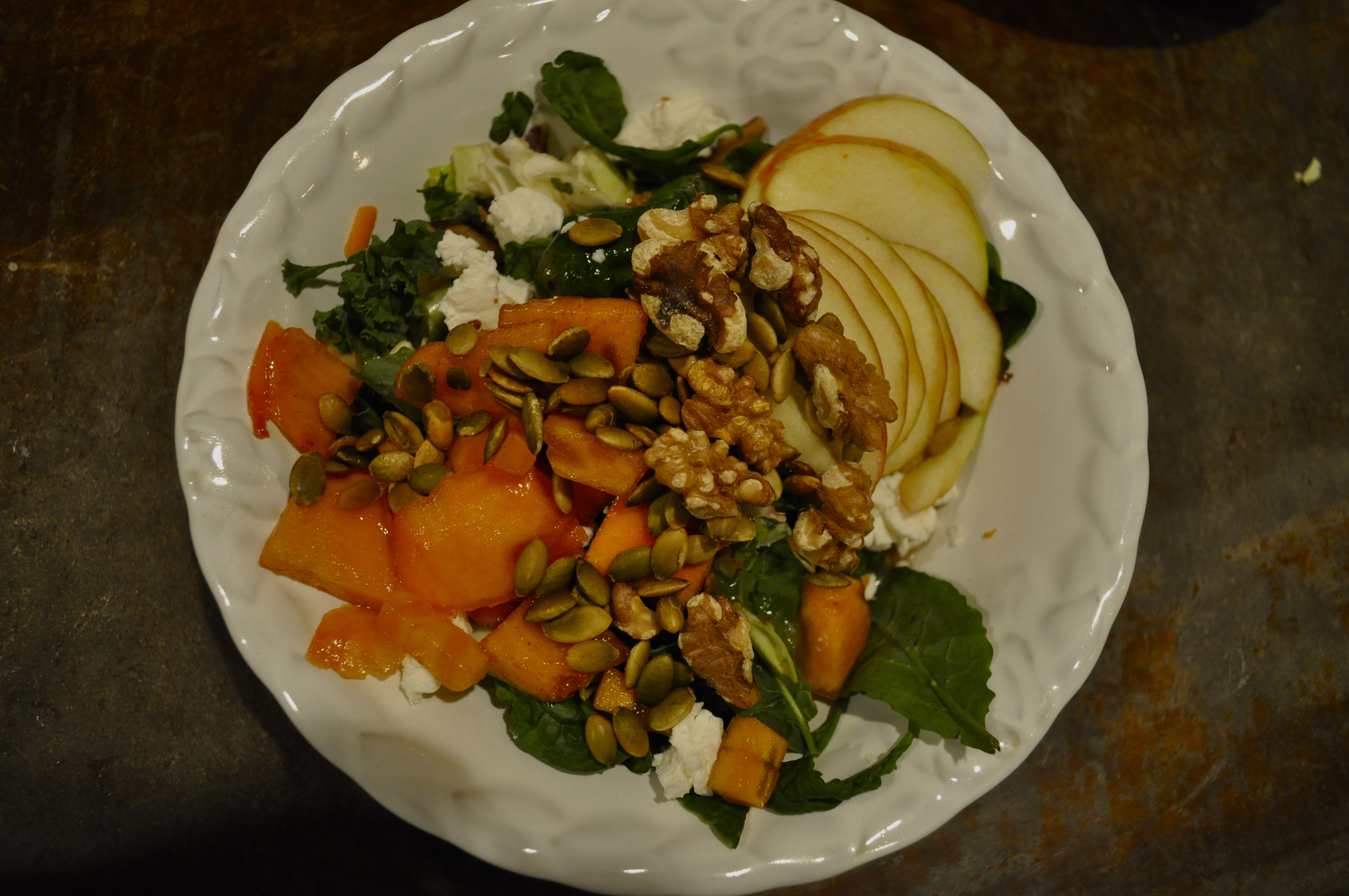 Fennel and Fire persimmon walnut salad