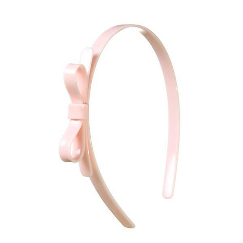 Headband Thin Bow Pink Pale