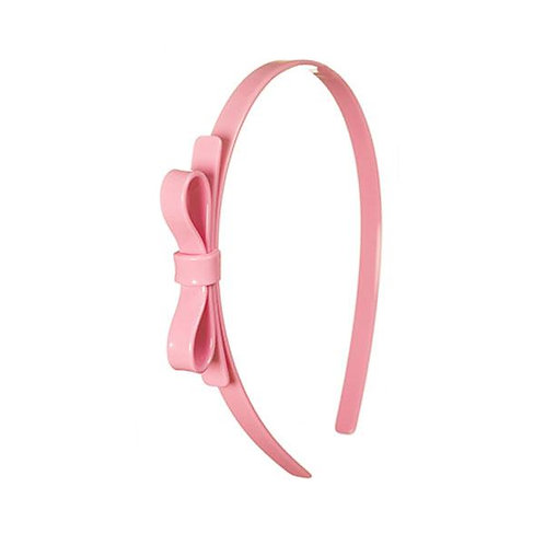 Headband Thin Bow Light Pink