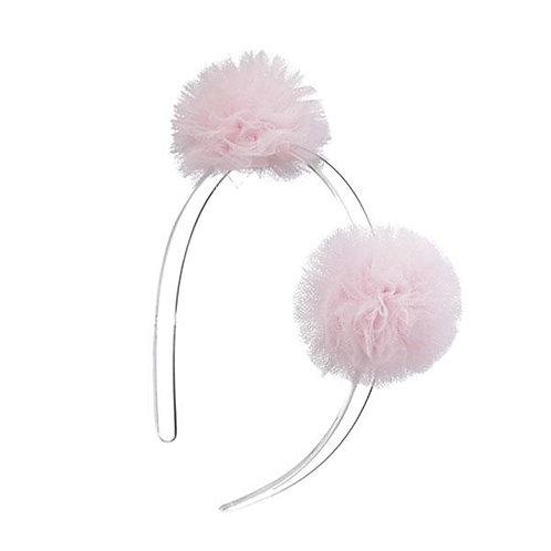 Headband Double Pompom Light Pink