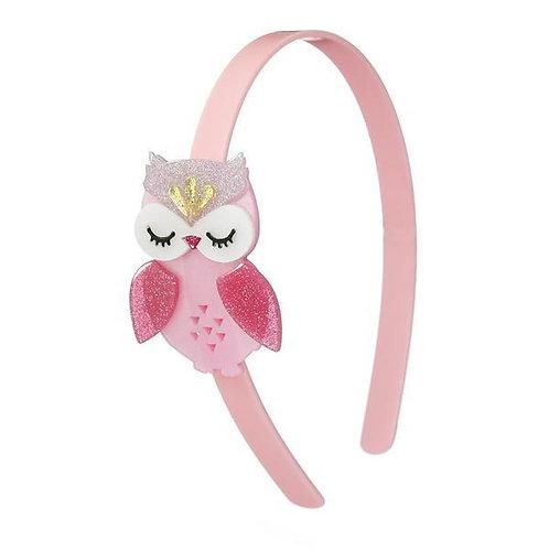 Headband Owl Satin Pink