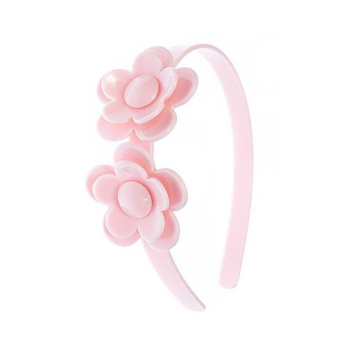 Headband Camelia Flower Light Pink