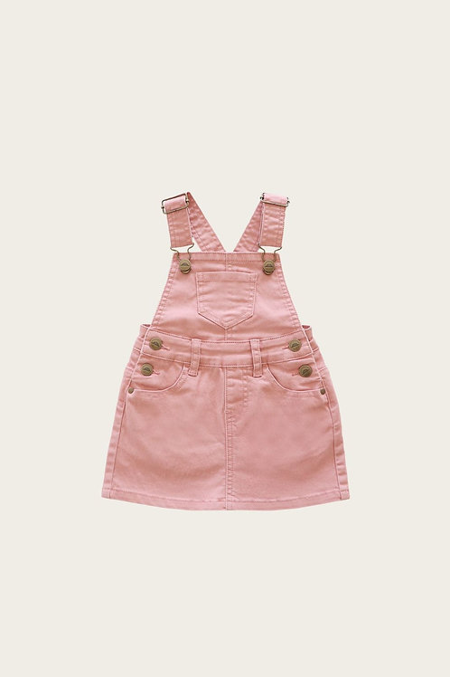 Denim Chloe Overall Dress Rose