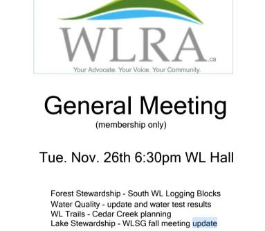 General Meeting Nov. 26 6:30