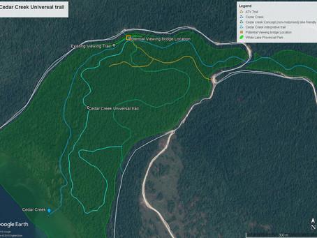 Proposed Cedar Creek Universal Trail