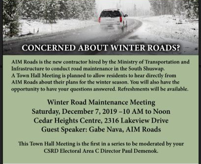 Road Maintenance Town Hall Meeting Dec 7