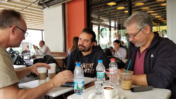 At Starbucks - discussion with a very interested man