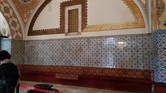 Topkapı Palace - The Sultan would sit behind the screen in the wall and listen to the conversations