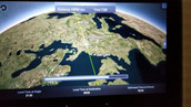 Video of flight from Chicago to Istanbul