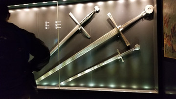 Christian swords -Left on the battlefields - oversized to scare the Ottomans