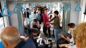 Izmir city train entertainment