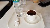 Turkish Coffee, Water & Turkish Delight