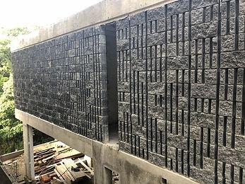 Muro block estriado rustico