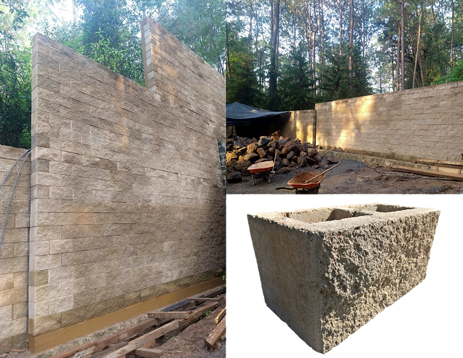 Block de concreto rustico, cara de piedra