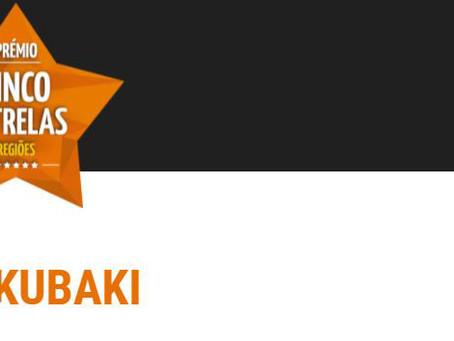 O Bukubaki entre os vencedores do Prémio Cinco Estrelas Regiões 2021