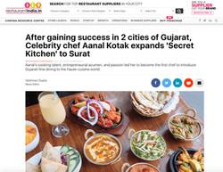 Vegetarian chef of india