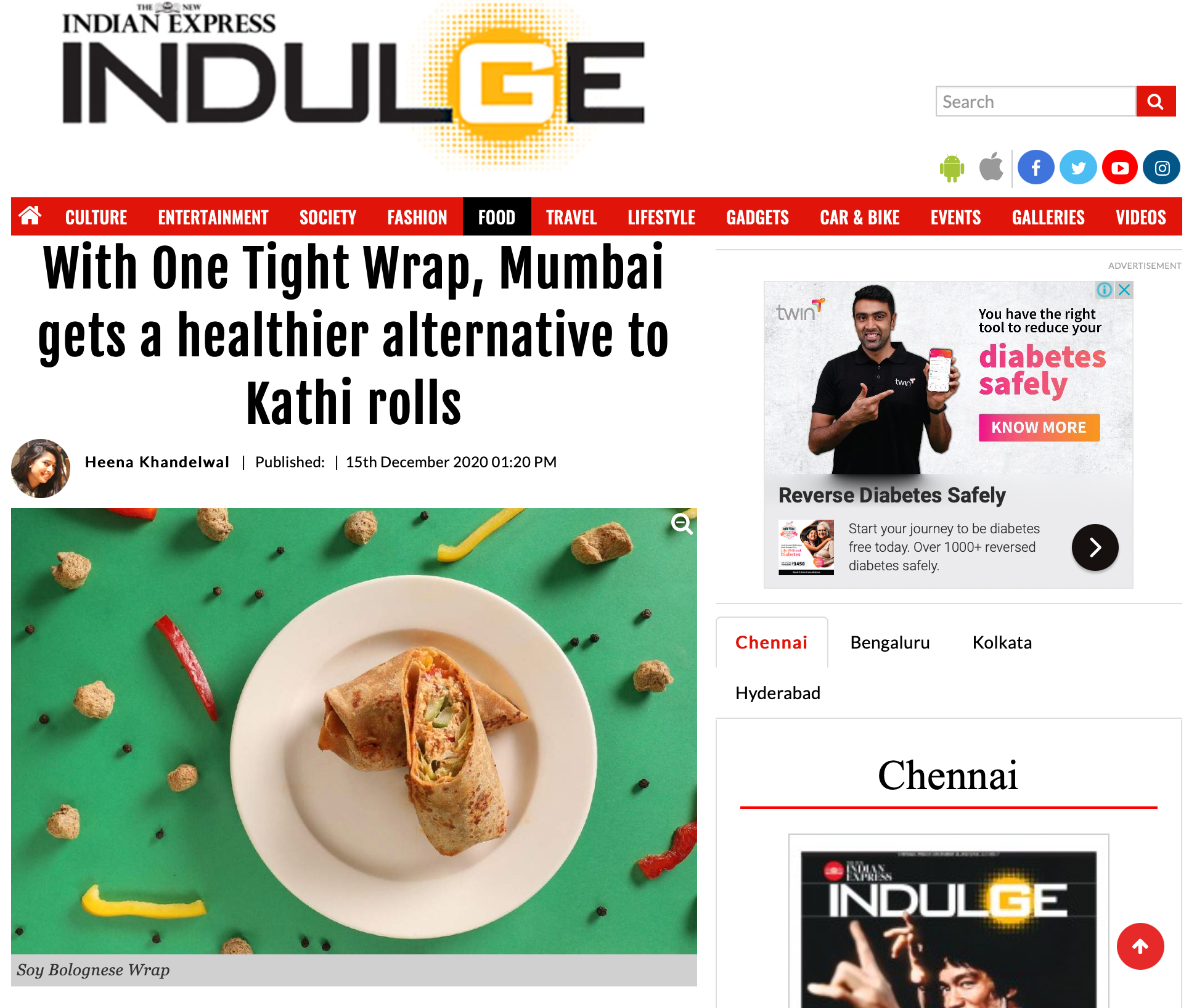 INDIAN EXPRESS INDULGE