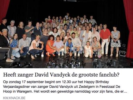 HEEFT DAVID VANDYCK DE GROOTSTE FANCLUB?