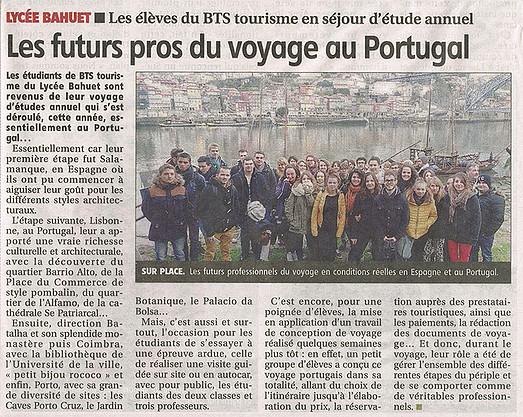 2015-02-17 - Les futurs pros du voyage au Portagal - La Montagne