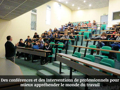 Des conferences et des interventions de professionnels