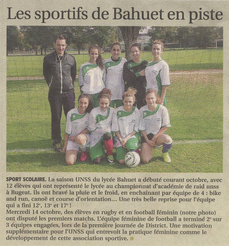 2015-10-23 - Les sportifs de Bahuet en piste - La Montagne