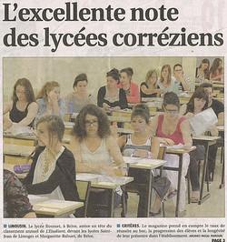 2015-02_-_L'exellente_note_des_lycées_corréziens_-_La_Montagne