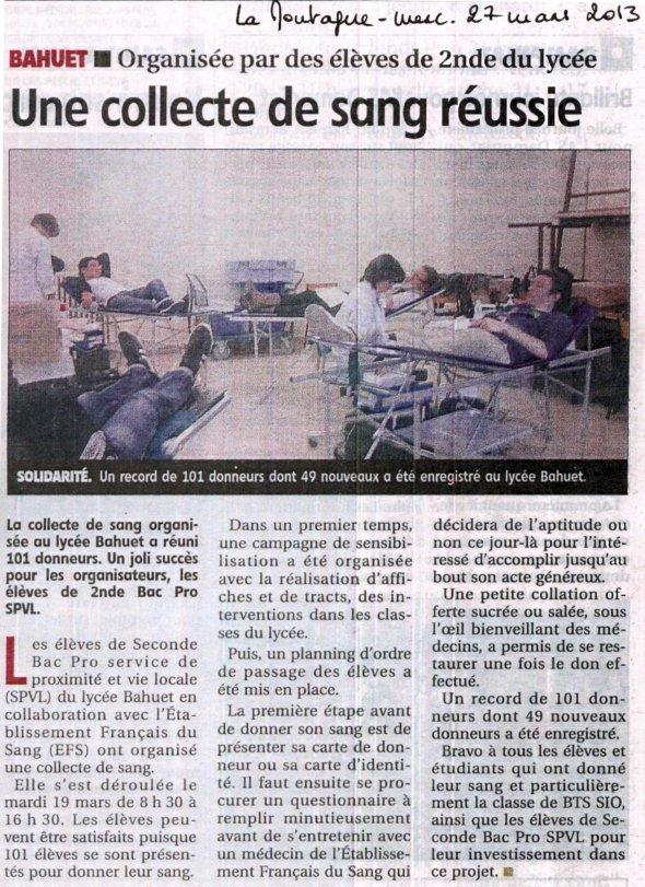 2013-03-28 - Don du Sang - La Montagne