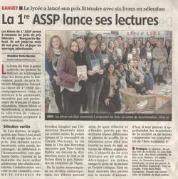 2015-11-21 - La 1re ASSP lance ses lectures - La Montagne