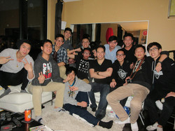 DSH and the boys partying
