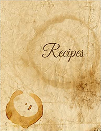 Recipes Blank 8.5*11 Pages with dietary bubbles - Stained Coffee