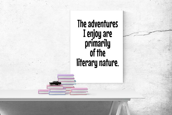 The adventures I enjoy are primarily of a literary nature
