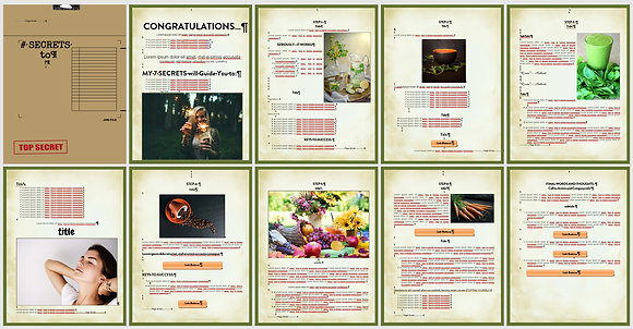 Secret Foods and Drinks Word Doc