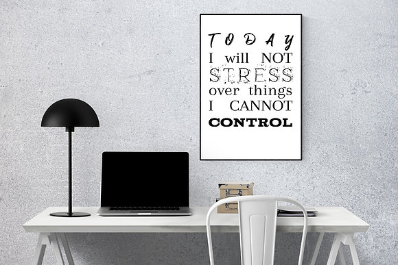 Today I will not stress over things I cannot control