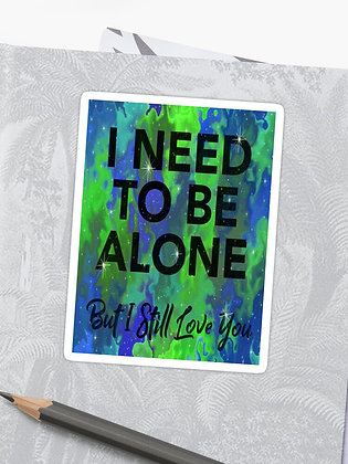 I need to be Alone - Blue