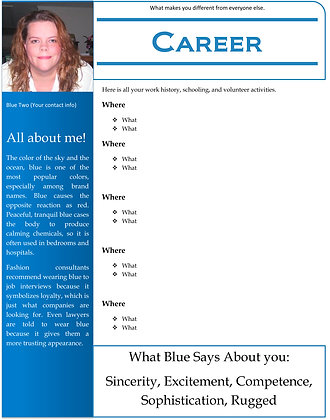 Blue Resume Two