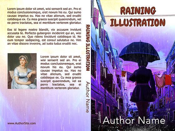 Raining Illustration