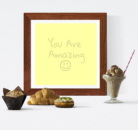 You Are Amazing on yellow