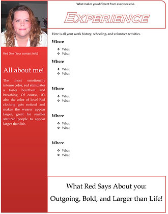 Red Resume One