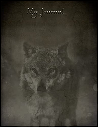 My Journal with Wolf- 200 pages of lines and dots