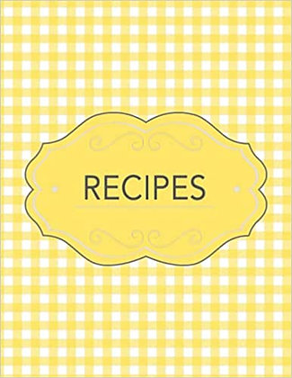 Recipes - 8.5*11 Pages Cookbook with Dietary Restriction Bubbles