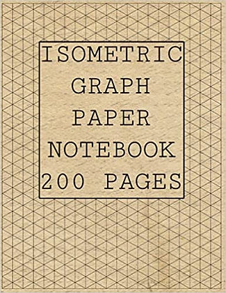 Isometric Graph paper notebook 200 pages