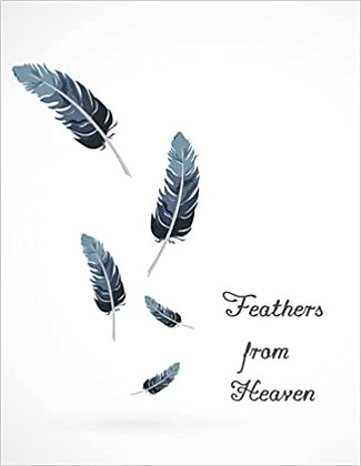 Feathers From Heaven Notebook 200 pages of lines and bullets